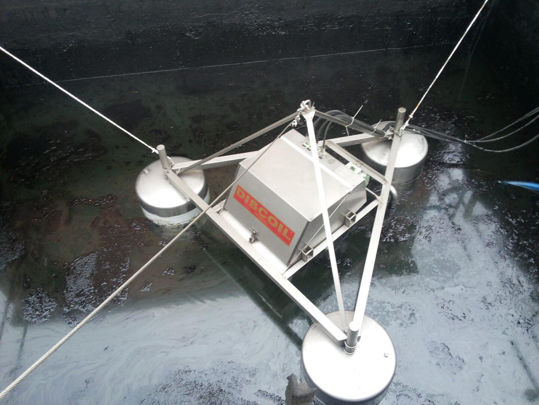 Oil skimmer model S4 75-01P - n.4 discs with floating platform in stainless steel, ATEX Zone 0